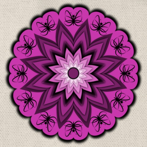Blumenmuster - Turnbeutel