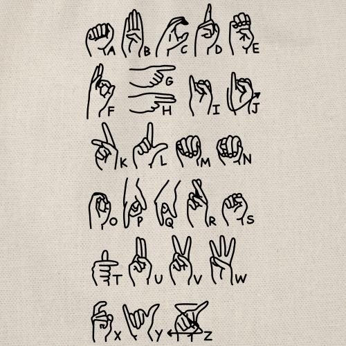 zeichensprache - Turnbeutel
