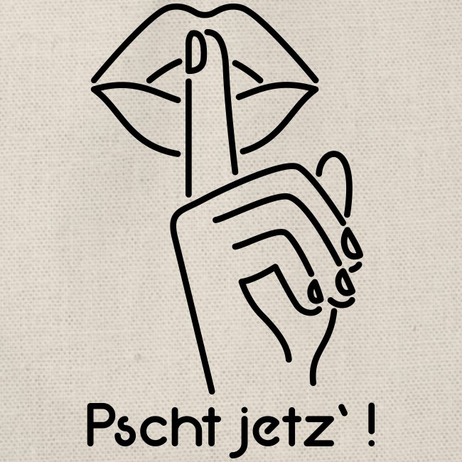 Vorschau: pscht jetz - Turnbeutel