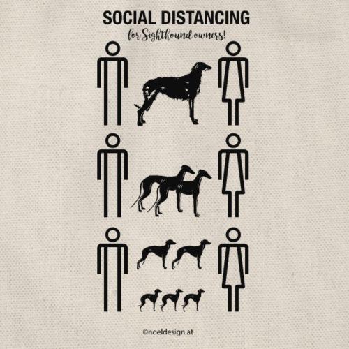 social distancing - Turnbeutel