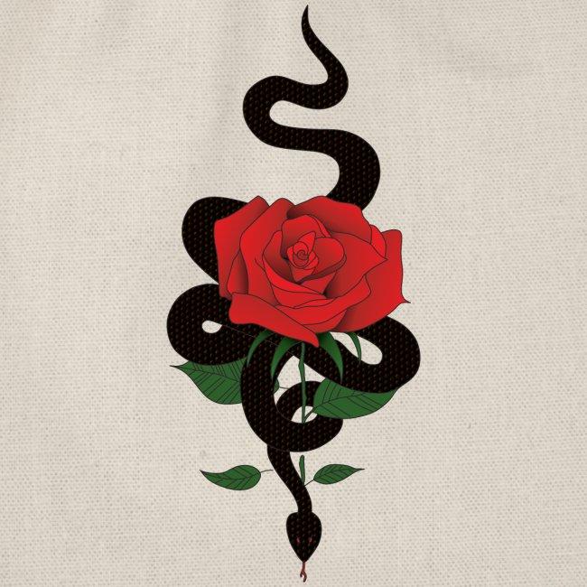 Serpiente y rosa