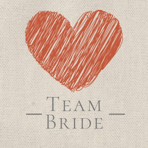 [For Bridesmaid] Team Bride - Red Heart