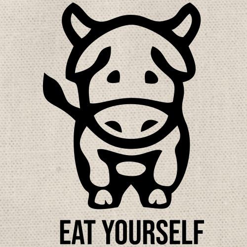 Eat yourself - Drawstring Bag
