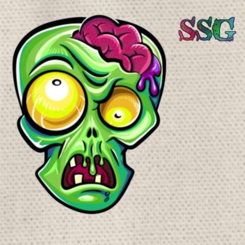 Zombie Brains logo - Drawstring Bag