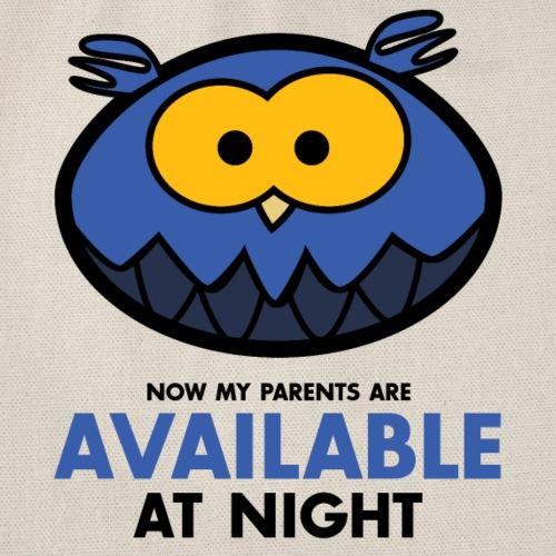 Available at night blau - Turnbeutel