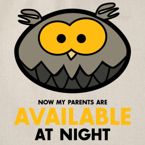 Available at night grau - Turnbeutel