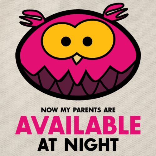 Available at night pink - Turnbeutel