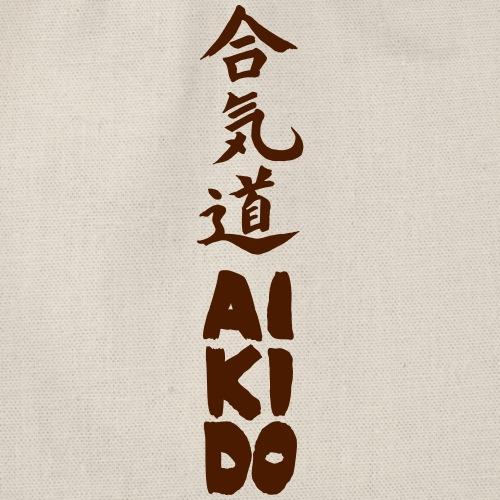 aikido kanji monocolor - Mochila saco