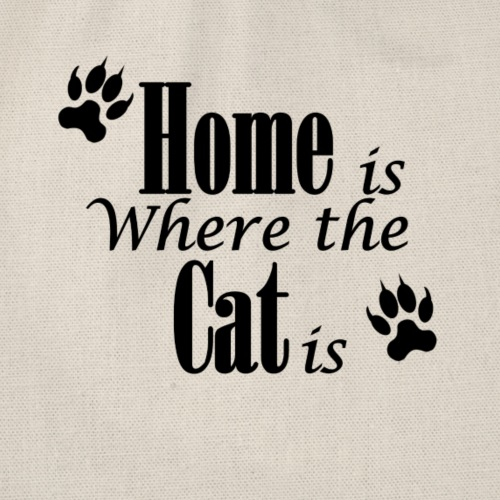 Home is where the cat is - Drawstring Bag