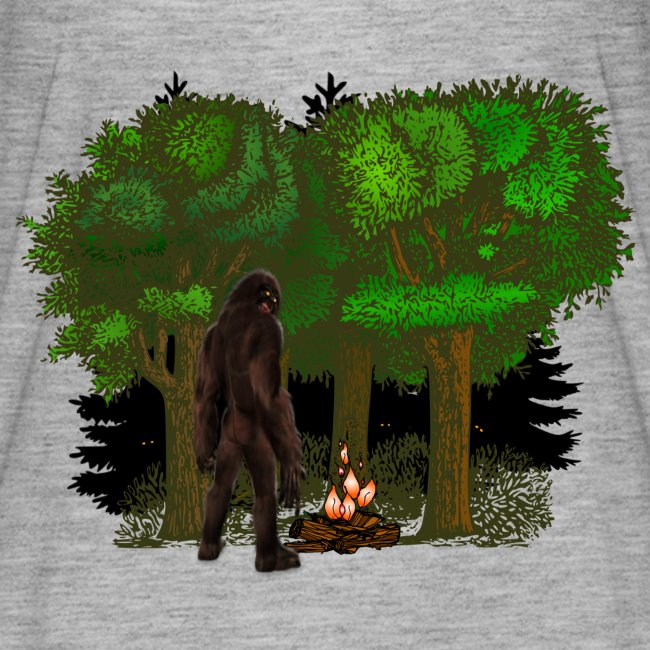 Bigfoot Campfire Forest
