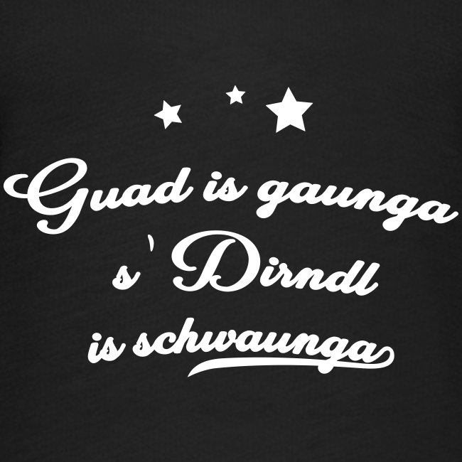 Guad is gaunga s'Dirndl is schwaunga - Frauen T-Shirt mit Fledermausärmeln von Bella + Canvas