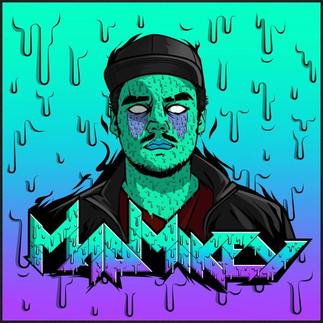 MadMikey Grime Art Sticky Green