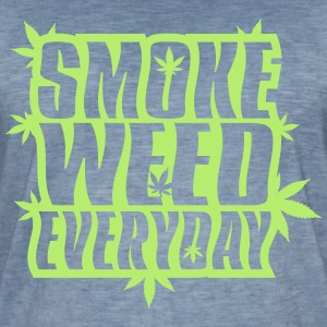 SMOKE_WEED_EVERYDAY - Vintage-T-skjorte for menn