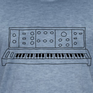 analog synthesizer - Vintage-T-skjorte for menn