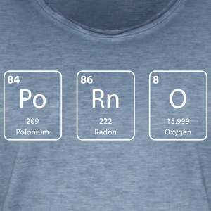 porno periodic table element - Mannen Vintage T-shirt