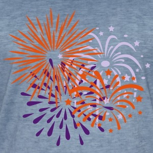Fireworks, Happy New Year, Party, Festival, Show - Men's Vintage T-Shirt