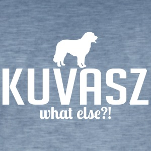 Kuvasz whatelse - Vintage-T-shirt herr