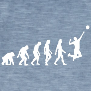 The Evolution Of Volleyball - Men's Vintage T-Shirt