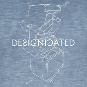 Designicated blanc - T-shirt vintage Homme