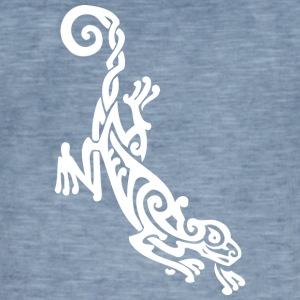 Cool tribal lizard - Vintage-T-skjorte for menn