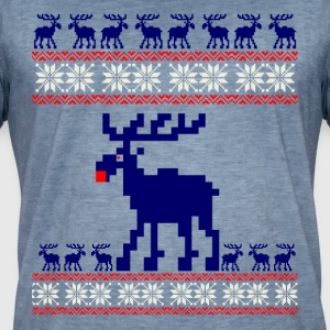 reindeer snow christmas ugly Xmas Christmas red n - Men's Vintage T-Shirt