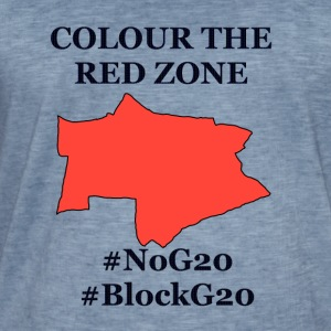 Colour the red Zone - Männer Vintage T-Shirt