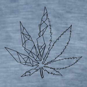 Stylized cannabis leaf - Men's Vintage T-Shirt