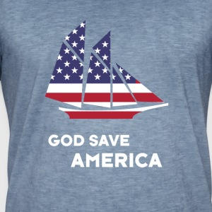 amerika seile USA Flag God Bless America - Vintage-T-skjorte for menn