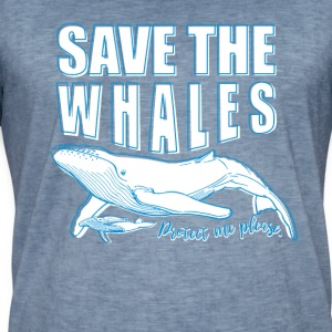 Save the whales - Men's Vintage T-Shirt