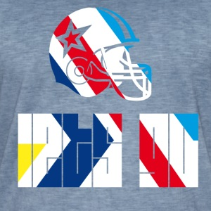 football_Helm Go spil Fan touchdown lader gå - Herre vintage T-shirt