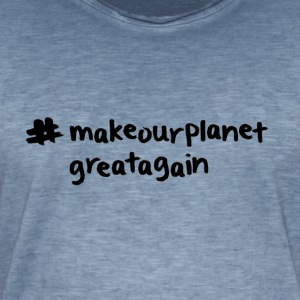 Macrourplanetgreatagain text black 01 - Men's Vintage T-Shirt