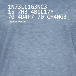 Intelligence white - Men's Vintage T-Shirt