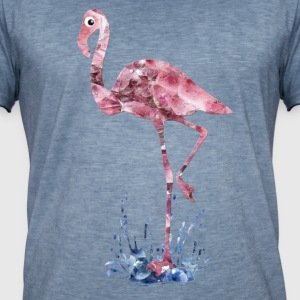 flamingo pink crystals Press - Men's Vintage T-Shirt