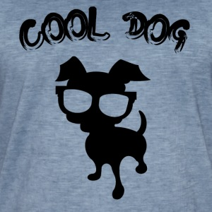 COOL DOG ​​- 2 - Männer Vintage T-Shirt