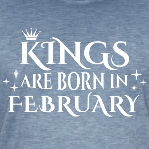 Kings are born in February - Männer Vintage T-Shirt
