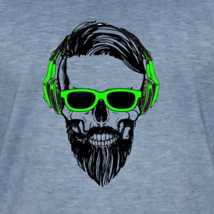 Skull goggles Music - Men's Vintage T-Shirt