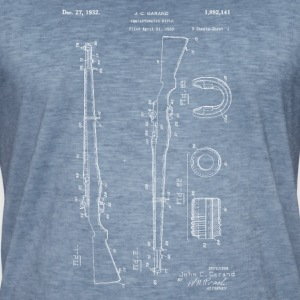 M1 Rifle Garand .30 cal blueprints vintage 1932 - Men's Vintage T-Shirt