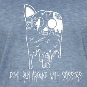 Dont Run Around With Scissors Black & White - Männer Vintage T-Shirt