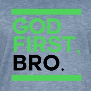 God First Bro - Vintage-T-shirt herr