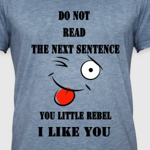 Do not read the next sentence - Men's Vintage T-Shirt
