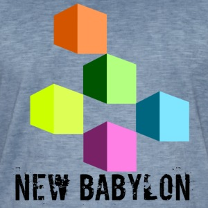 New Babylon - Vintage-T-skjorte for menn