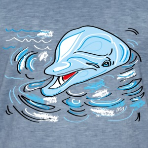 dolphin - Men's Vintage T-Shirt