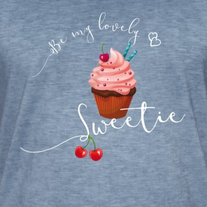 Sweet cupcake sweet cherry heart love pink - Men's Vintage T-Shirt