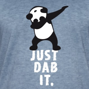 dab just dab it panda dabbing touchdown superbowl - Männer Vintage T-Shirt