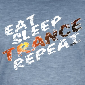 Eat Sleep Gentag Trance V1 - Herre vintage T-shirt