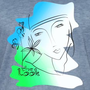 Face 2 blue - green (The Look series) - Men's Vintage T-Shirt