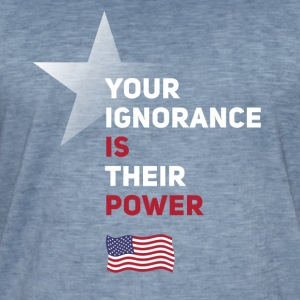 fahn power America star political statement saying - Men's Vintage T-Shirt