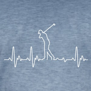 Heartbeat Golf - Mannen Vintage T-shirt