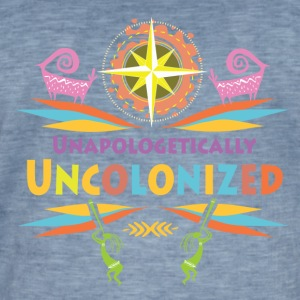 Uncolonised. - Herre vintage T-shirt