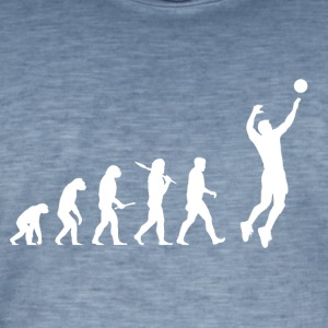 Evolution Volley-ball Man - T-shirt vintage Homme